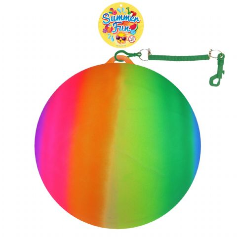 25cm Rainbow Ball With Hook & Spiral Keyring